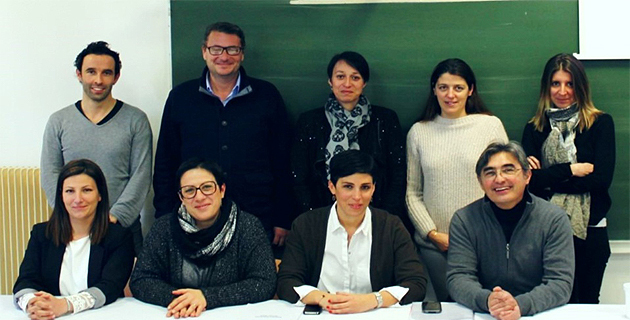 Le conseil d'administration d'INSEME rassemblé autour de Lætitia Cucchi