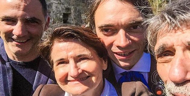 Gilles Simeoni, Dominique Mattei, Cédric Villani et Edmond Baudoin ont même fait un selfie