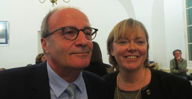 Les élus de majorité municipale dans le canton de Bastia I : Michel Rossi et Vanina Le Bomin.