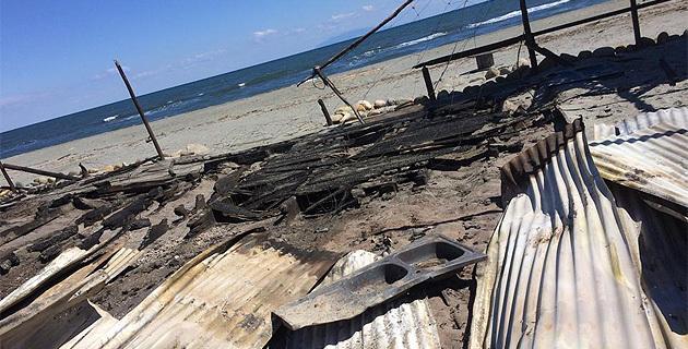 Lucciana : Une paillote détruite par un incendie sur la plage de California