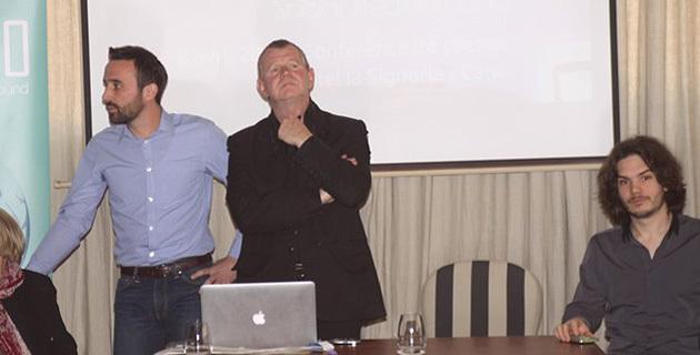 Julien Angelini, community Manager, à gauche, et Etienne Lovisi, organisateur de la manifestation.