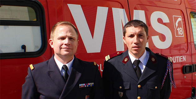 Le médecin-chef de la BA 126, Cyril Carfantan et le médecin-chef du Sdis 2B Stéphane Bergzoll