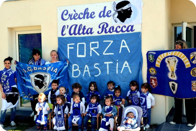 """Forza Bastia, la crèche de l'Alta Rocca est avec toi !"""