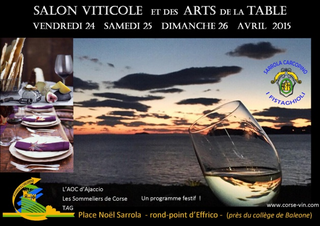 Sarrola carcopino le salon viticole et des arts de la - Salon art de la table ...