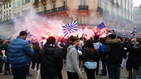 Finale Coupe de la ligue : Incidents au quartier des Halles