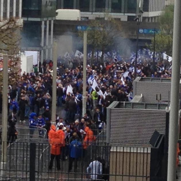 Finale Coupe de la ligue : Incidents au quartier des Halles