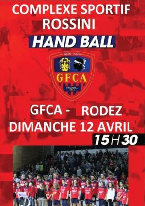 Hand Ball : Le GFCA rencontre Rodez