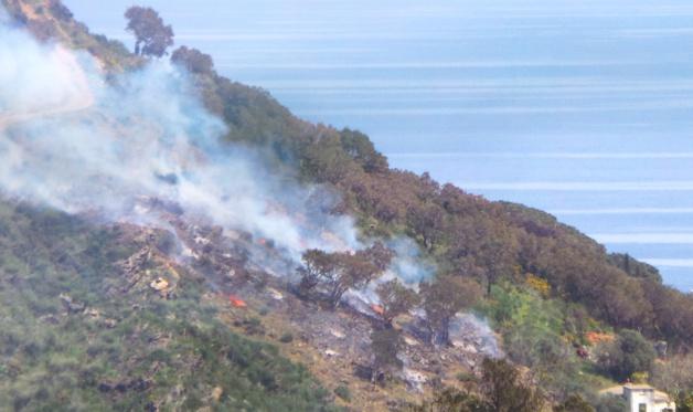 Début d'incendie sur les hauteurs de Miomo
