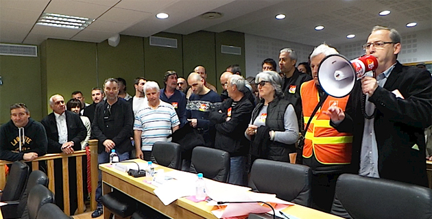 Bastia : La CGT investit la salle de délibérations de la CAB