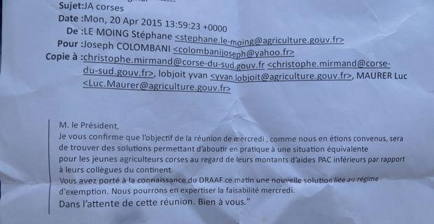 Le mail qui a fait tomber (provisoirement?) la colère des jeunes agriculteurs