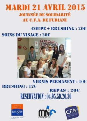 Ligue contre le cancer pour la vie de la Haute-Corse : Opération de solidarité au CFA de Furiani