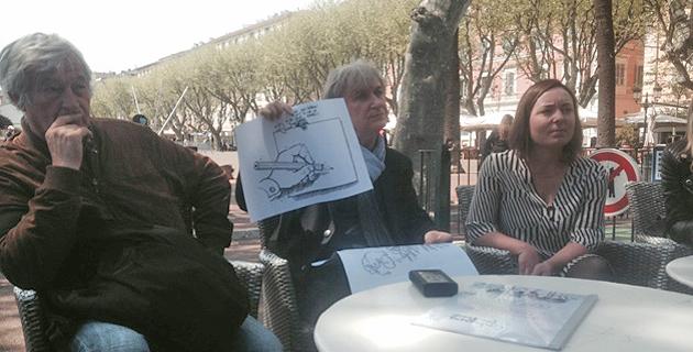 Batti, Plantu et Françoise Vesperini