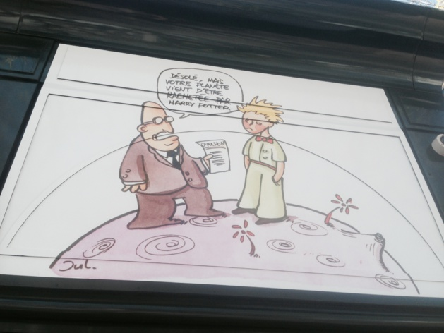 "Bastia : Plantu expose ""Cartooning for Peace"" à l'office de Tourisme"