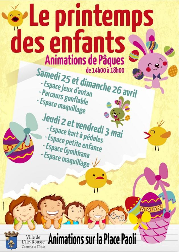 Des animations gratuites  pour les enfants à L'Ile-Rousse