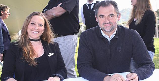 Donata Borelli et Etienne Suzzoni au moment de la signature de la convention