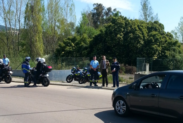 Opération de contrôle des deux-roues motorisés en Corse-du-Sud