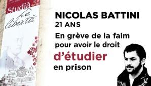 Nicolas Battini cesse sa grève de la faim