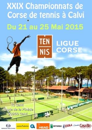 Les XXIXèmes championnats de Corse de tennis à Calvi du 21 au 25 mai