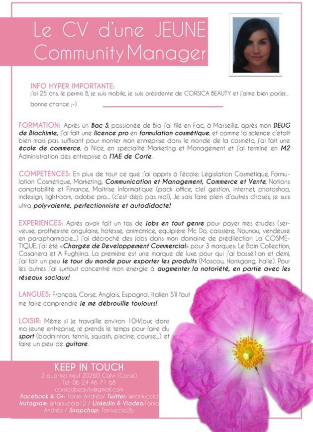 Tania Andréo (Corsica Beauty) représentera la Corse au 1er Championnat du monde Social Média Manager à Calvi