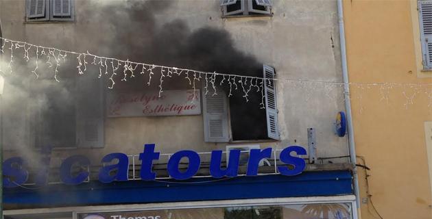 Ajaccio : Un institut de beauté du centre ville touché par un incendie