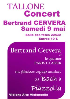 Tallone : Bertrand Cervera en concert samedi