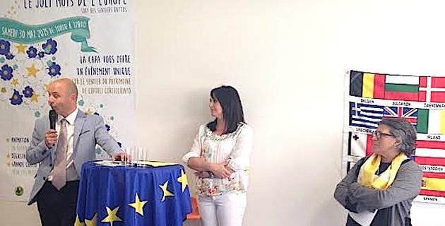 Jean-Jacques Ferrara, président de la Capa et Merie-Paule Mancini-Neri, directrice de la Maison de l'Europe en Corse (à droite)