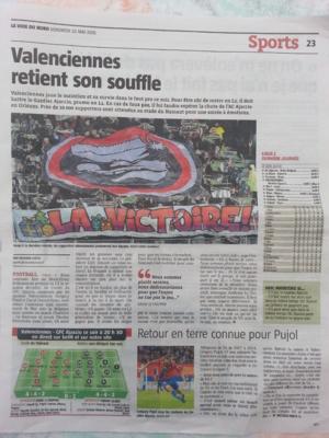 Valenciennes retient son souffle titre La Voix du Nord