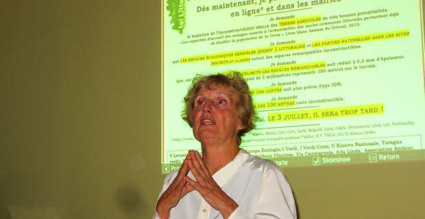 Michelle Salotti, porte-parole d'U Levante.
