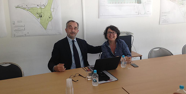 Lionel Guerin, directeur général délégué Hop ! Air France et président de Hop ! et Viviane Dalmas, directrice déléguée régionale Air France