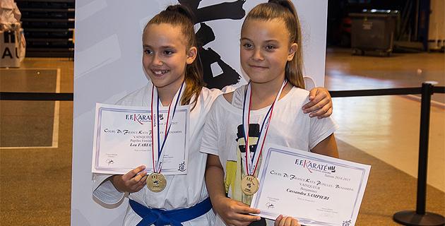 Léa Fabiani et Cassandra Sampieri : Des lauriers nationaux !