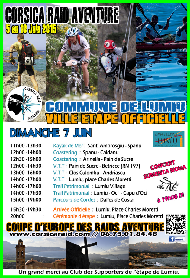 Lumio à l'heure du Corsica Raid Aventure 2015