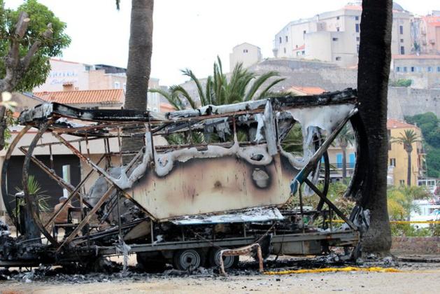 A Calvi un manège pour enfants détruit par un incendie