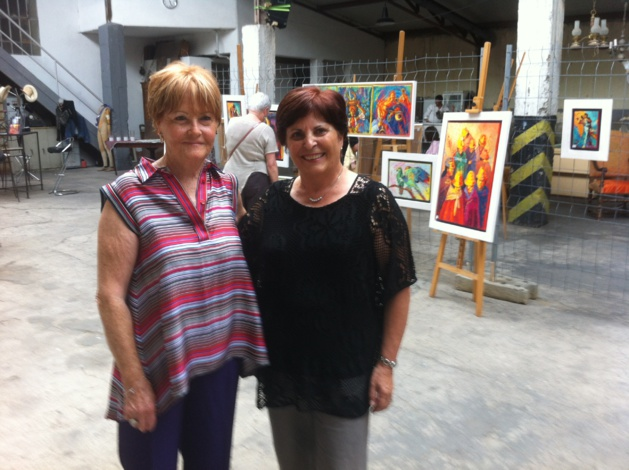Ajaccio : Les artistes Nita Bertaudière et Josette Vernet ont investi le Garage