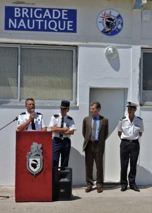 Mise en service des nouveaux locaux de la brigade nautique à la BAN d'Aspretto