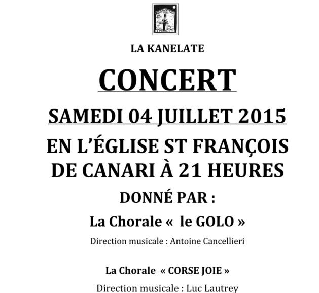 Canari : Un concert pour la restauration de Santa Maria Assunta