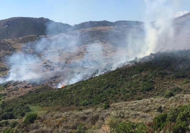départ de feu, golf de Lava