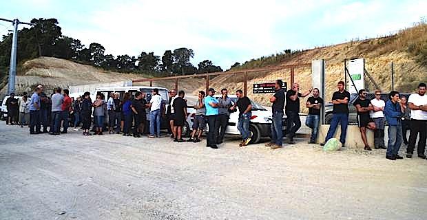 Le centre d'enfouissement des déchets de Prunelli fermé et bloqué depuis mercredi matin.