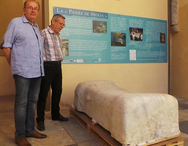 Musée de Bastia : La pierre de Meria et la stèle funéraire romaine de Luri