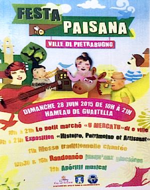 « Festa Paisana» : La quatrième édition, dimanche, à Ville di Pietrabugno