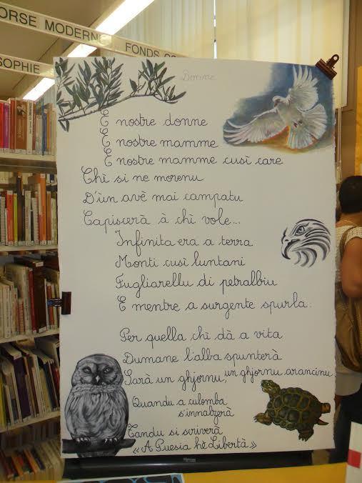 Bastia : Scrivimi qualchi parulla, dans le cadre de Festa di a lingua corsa