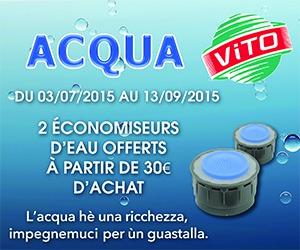 Environnement : Faites des économies d'eau avec Acqua'Vito