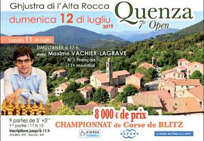 Le Numéro 3 mondial participera  au 7e Open d'Echecs de Quenza !