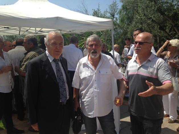 Pierre-Jean Luciani en compagnie des maires de Partinellu et Cuttoli e Curtichjatu