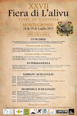 Montegrossu se met à l'heure de A Fiera di l'Alivu…