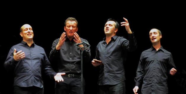 Le quatuor de Barbara Furtuna : Jean-Philippe Guissani, André Domininci, Maxime Merlandi et Jean-Pierre Marchetti.