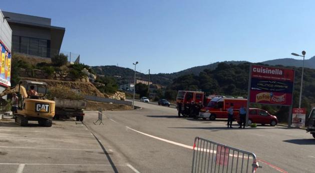Mobilisation et périmètre isolé à Propriano
