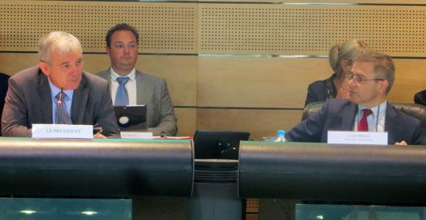 François Orlandi, président du Conseil départemental de Haute-Corse, et le préfet, Alain Thirion.