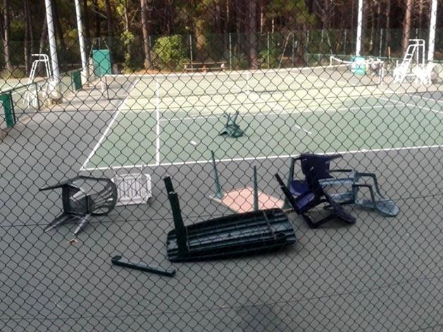Acte de vandalisme au Tennis club de  Calvi