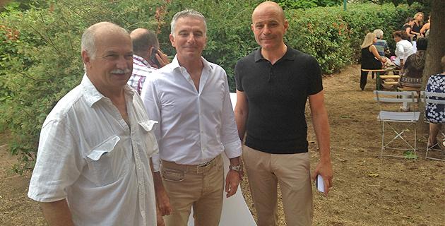 Le maire de Cuttoli, Jean Biancucci, Marc-Antoine Corticchiato et Jean-Jacques Ferrara, président de la CAPA