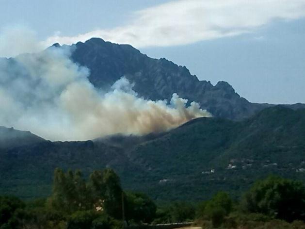 Gros départ de feu en Balagne